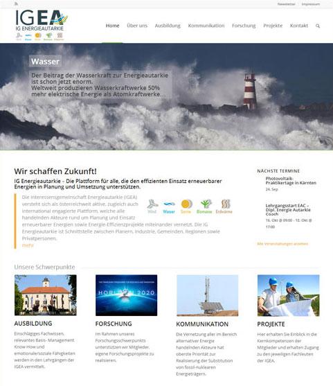 Neue mobile Homepage erstellt für IGEA Vösendorf