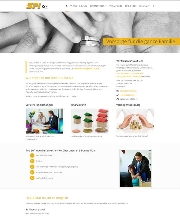 Mobile Homepage für Finanzdienstleister in Wiener Neustadt