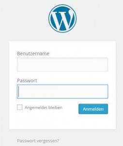 Login wordpress admin-bereich