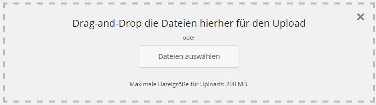 Datei Upload WordPress