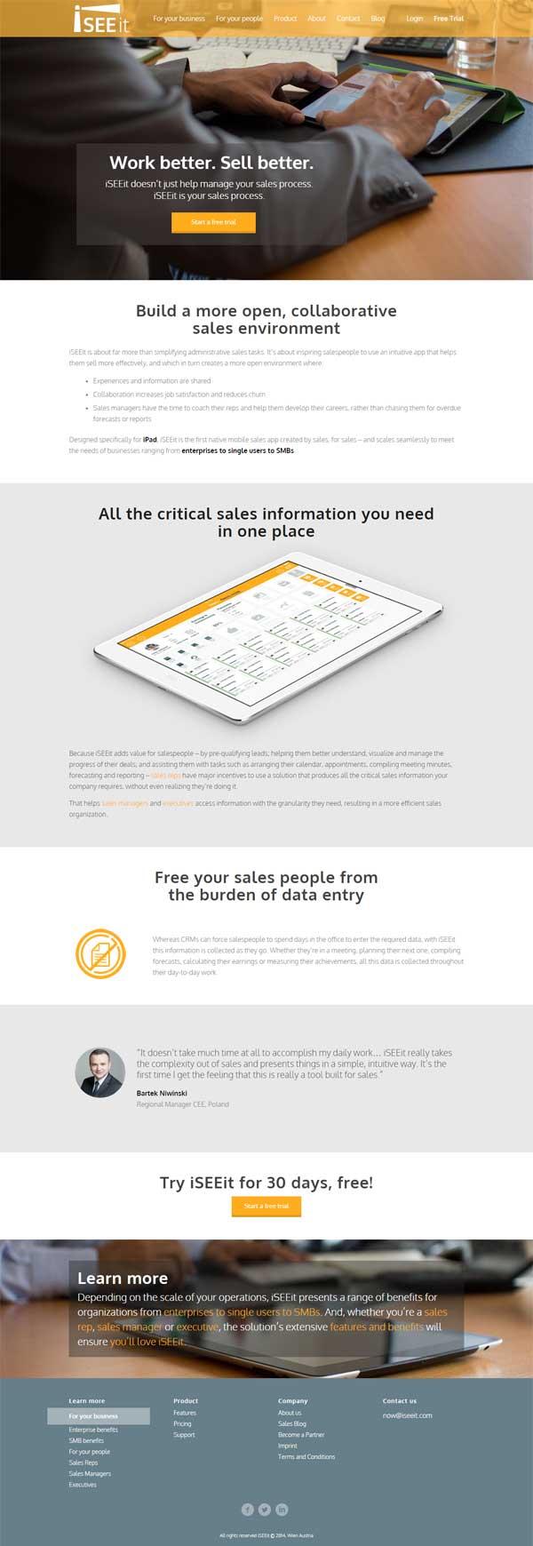 mobile Webdesign für die wiener Firma iSEEit
