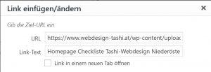 Link einfügen in WordPress