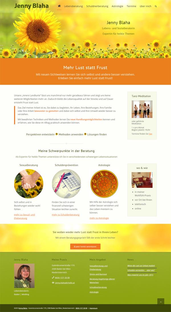 Mobile Webpage erstellt für Blaha Baden bei Wien