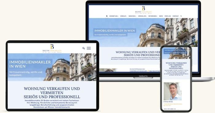 Brehm Immobilien   Webdesign Wien