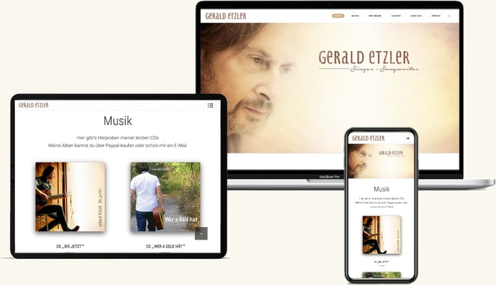 Gerald Etzler   Musiker Website Design Weinviertel