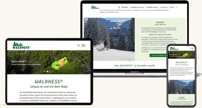 Waldness Website Webdesign Oberösterreich