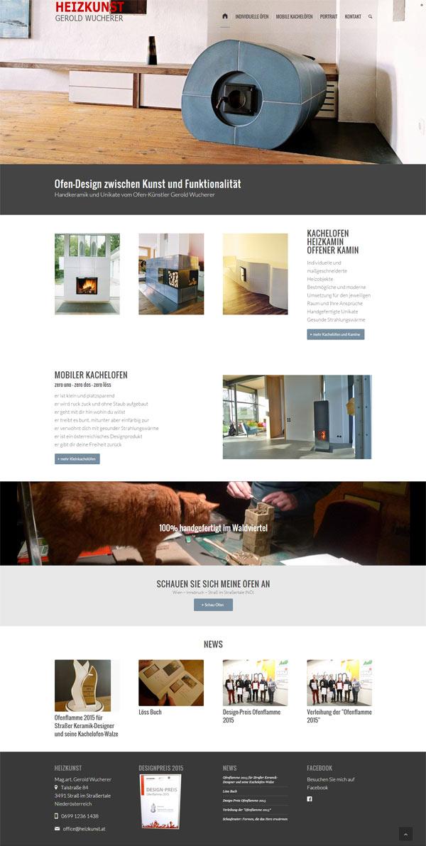 Webdesign Ofen-Künstler und Designer Gerold Wucherer