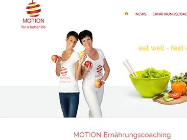 Webdesign für MOTION Ernährungscoaching - Wien