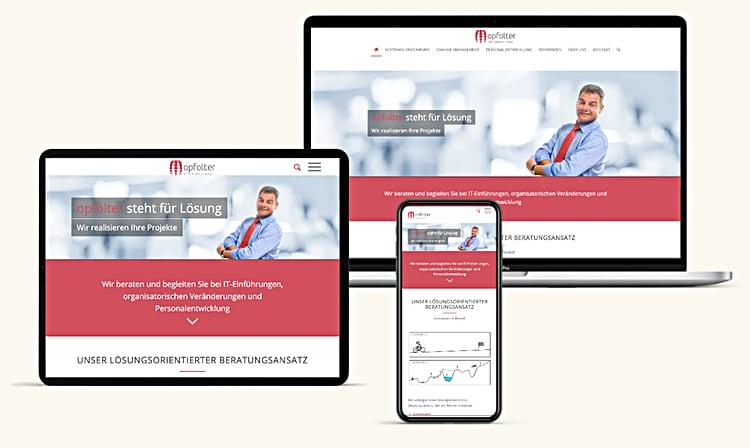 Unternehmensberatung Webdesign