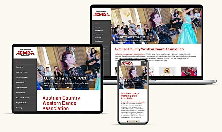 Acwda Tanz Website Design Niederoesterreich