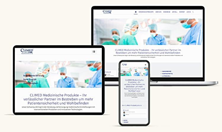 Climed Medizin Technik Homepage Wien