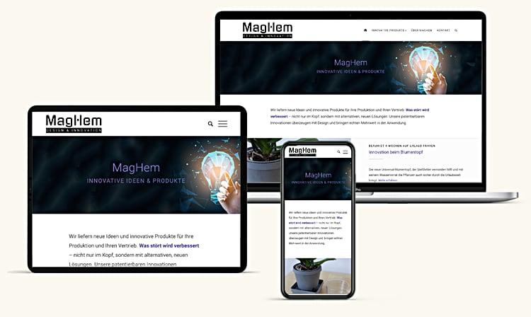Maghem Innovation Website Design Wien