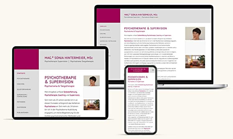 Psychotherpie Webdesign Wien