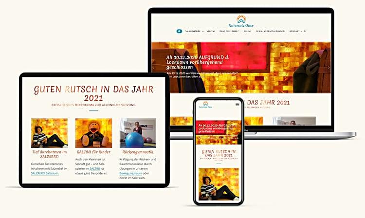 Salz Oase Webdesign Wien