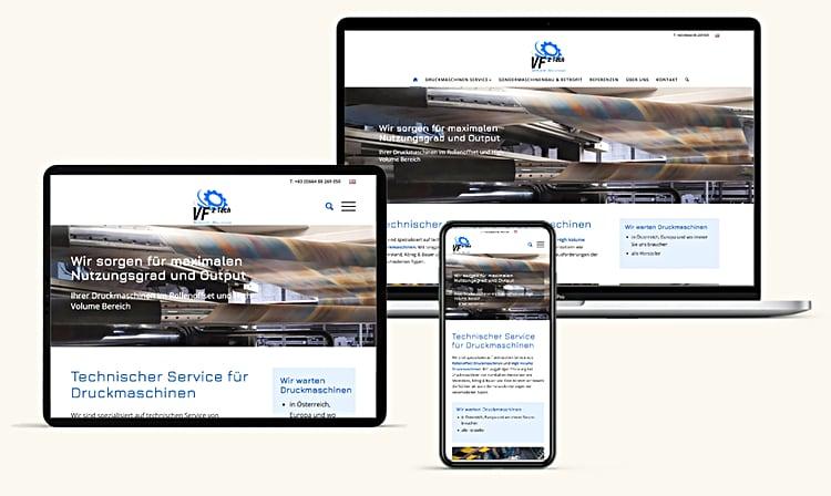Vf2tech Print Website Design