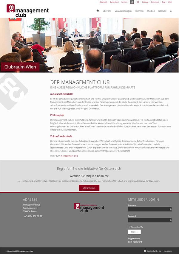 Referenz Website Club Wien