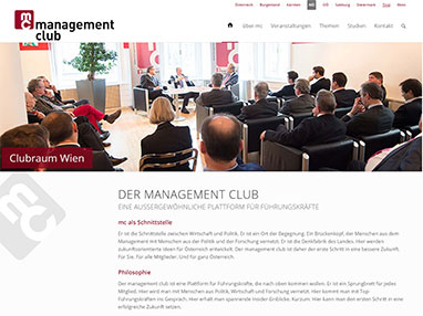Referenz Website Club Wien