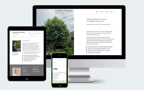 responsive Webdesign Conditio Humana