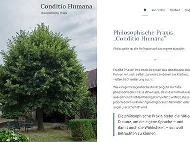 Webdesign Referenz philosophische Praxis