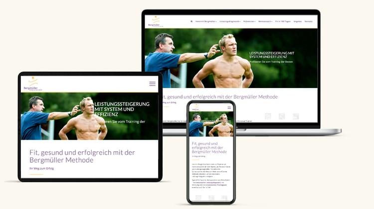 Homepage Fuer Sport Trainer