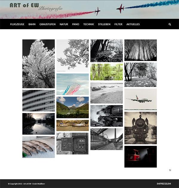 responsive Webdesign mit Foto-Gallerie
