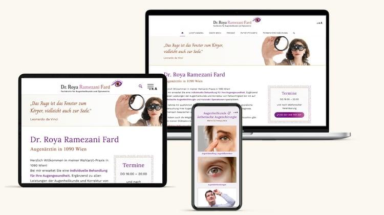 Augenarzt Website Design Wien