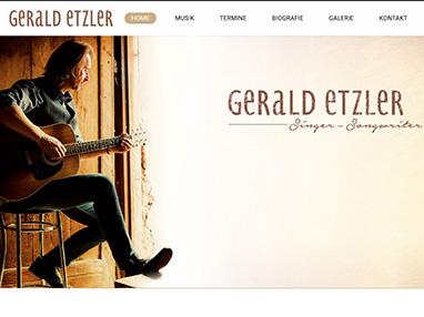 Homepage Musiker Gerald Etzler