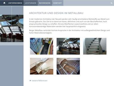 Homepage erstellen lassen - Berger Metallbau