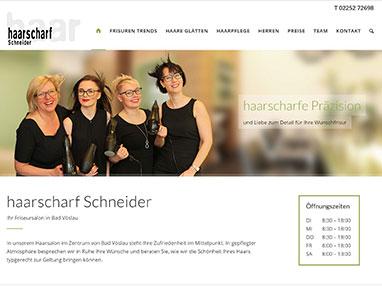 Homepage Friseur Bad Vöslau - haarscharf Schneider