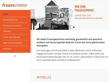 Homepage für Verein frauenzimmer in Baden bei Wien