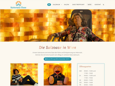 Web Design Gesundheitsbereich - Salzoase Wien