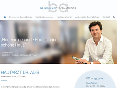 Homepage Arzt