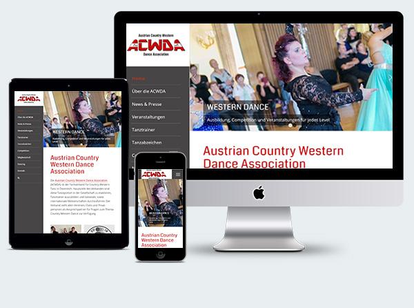 Web Design für ACWDA
