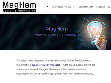 Homepage MagHem Innovative Produkte & Design