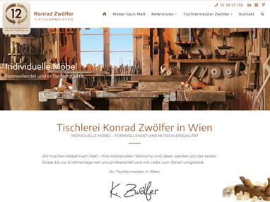 Homepage nach Maß für Tischler