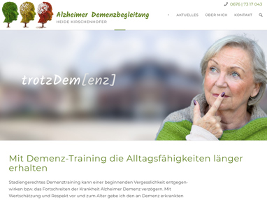 Homepage Demenztrainer