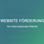 Förderung website international 2019 / 2020