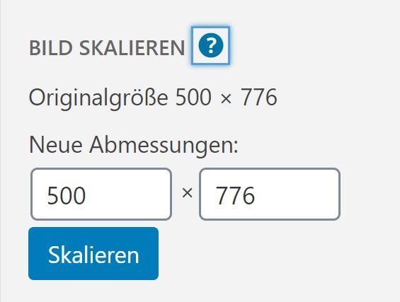 Bild skalieren in WordPress