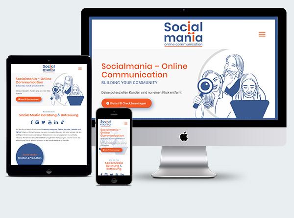 Homepage Social Media Beratung