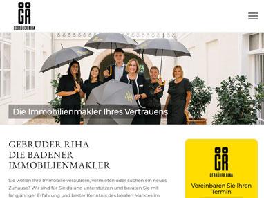 Immobilien Homepage Baden