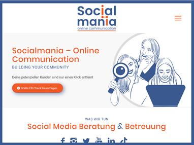 One-page Website für Social Media Beratung