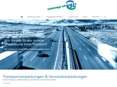 Website Verpackung
