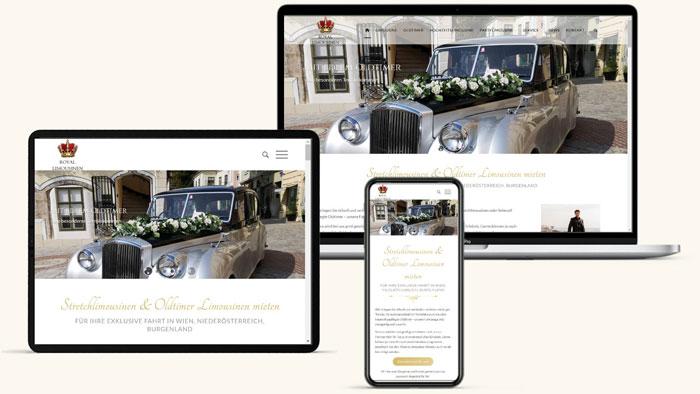 Responsive Homepage Royal Limousine